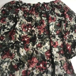 New Directions floral top semi sheer size XL